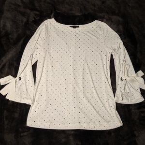 Off White Patterned Banana Republic Top XS